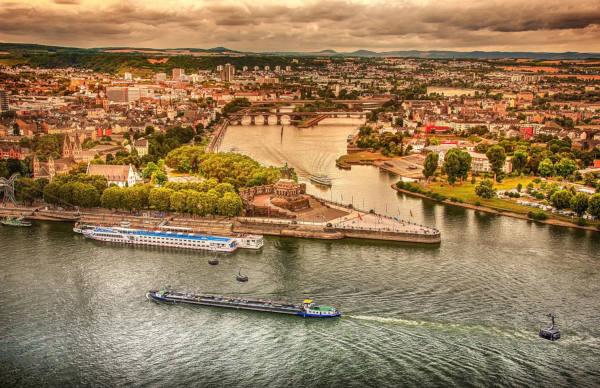 Stadt Koblenz und Deutsches Eck