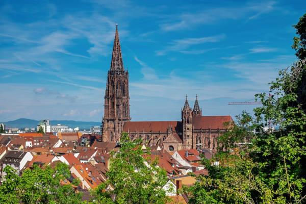 Stadt Freiburg mit dem Münster